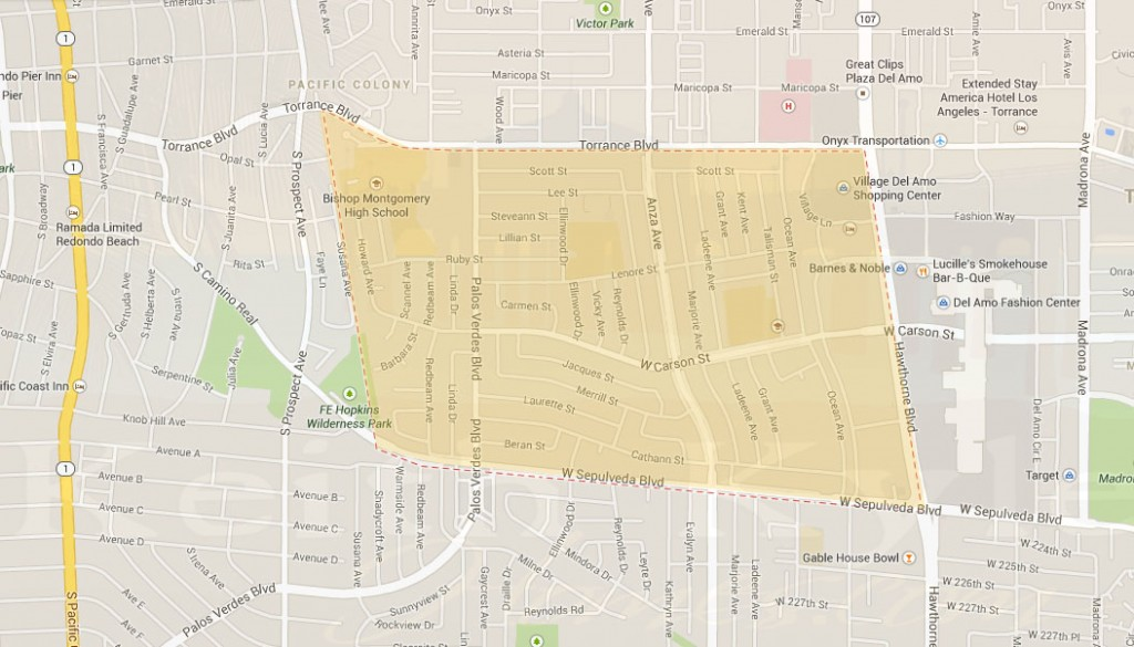 Southwood Torrance Map